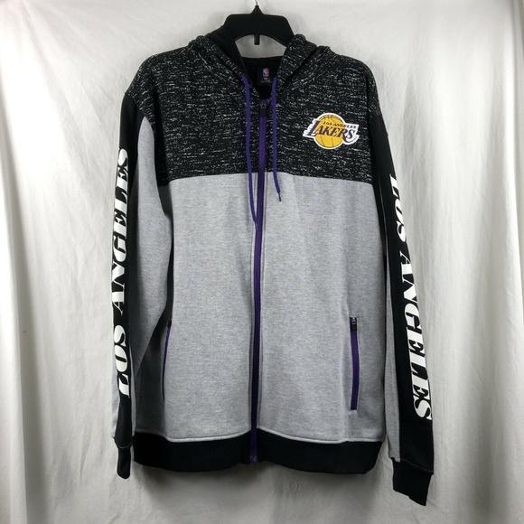 3b42d6f4e430 NBA Los Angeles Lakers Zip Up Warmup Hoodie XL NWT